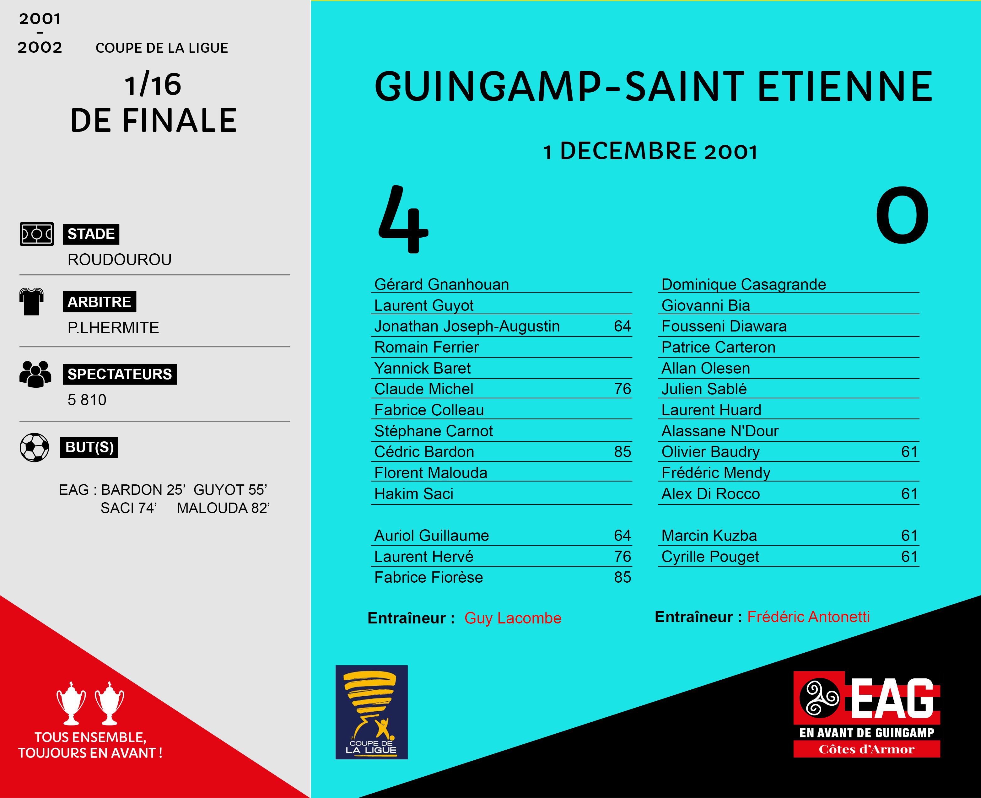 Les Guingamp Saint Etienne En Avant De Guingamp