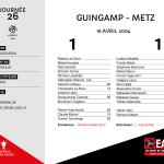2003-2004 J26 Guingamp-Metz