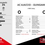 2003-2004 J34 ACAjaccio - Guingamp