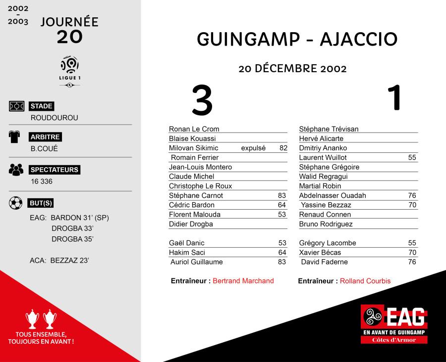 2002-03 J20 Guingamp-Ajaccio