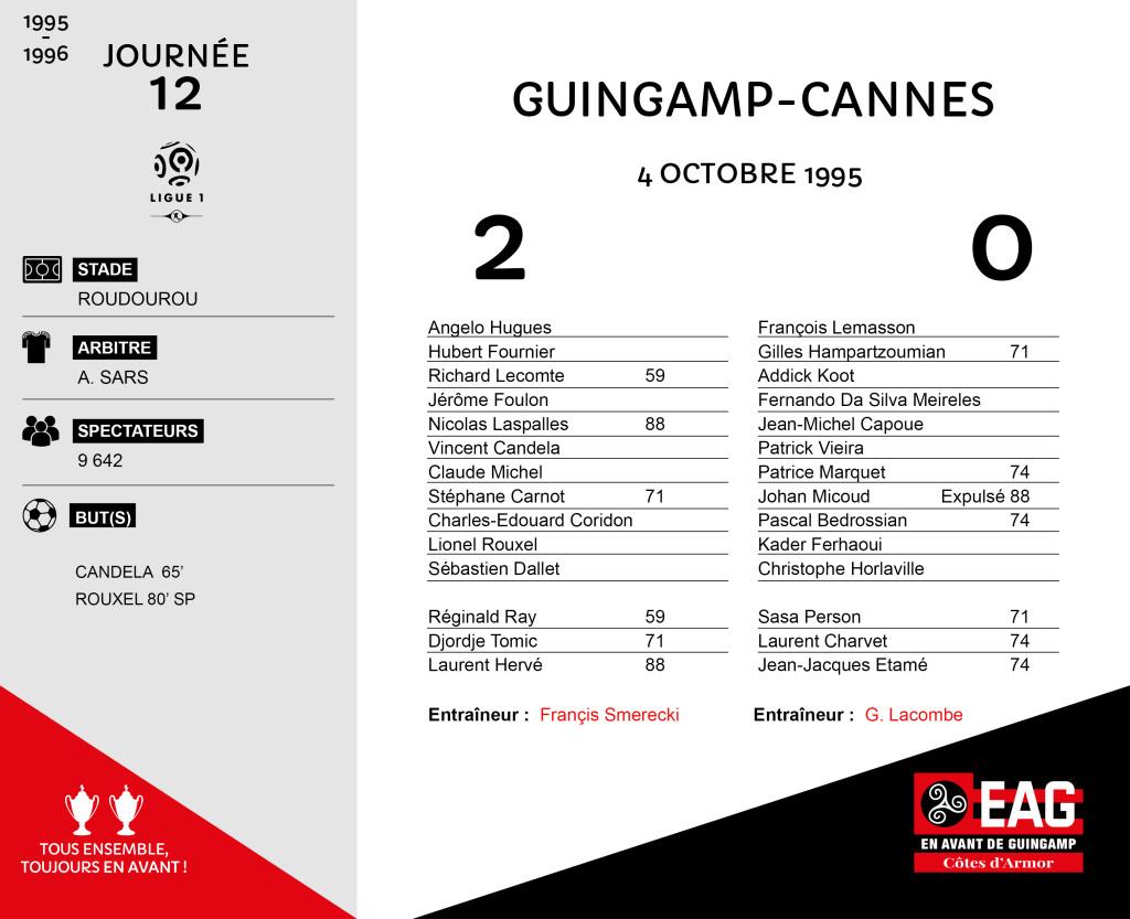 95-96 J12  Guingamp-Cannes