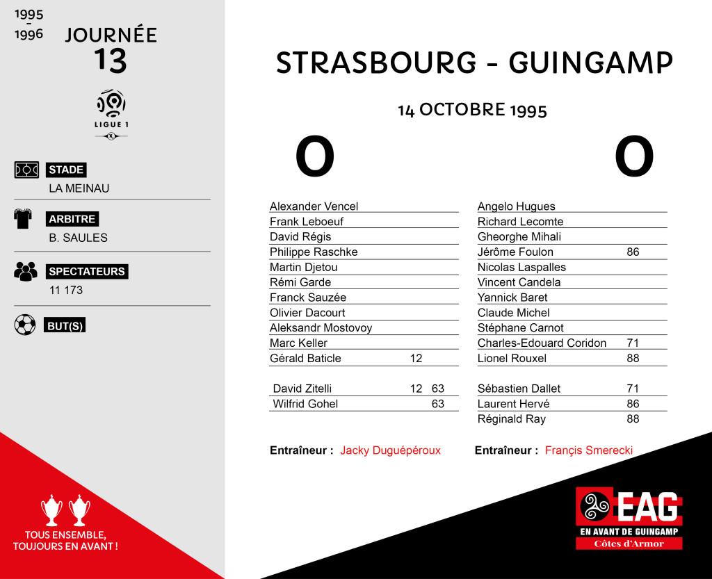 95-96 J13  Strasbourg-Guingamp
