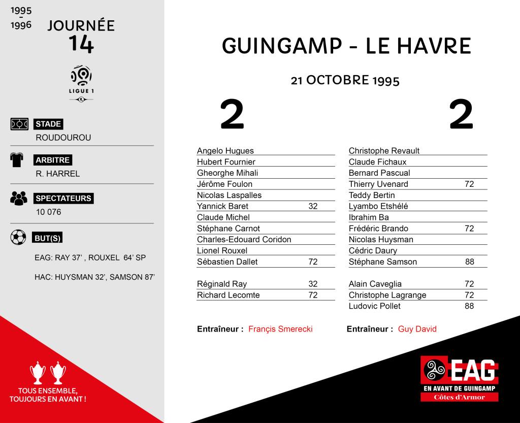 95-96 J14  Guingamp-Le Havre