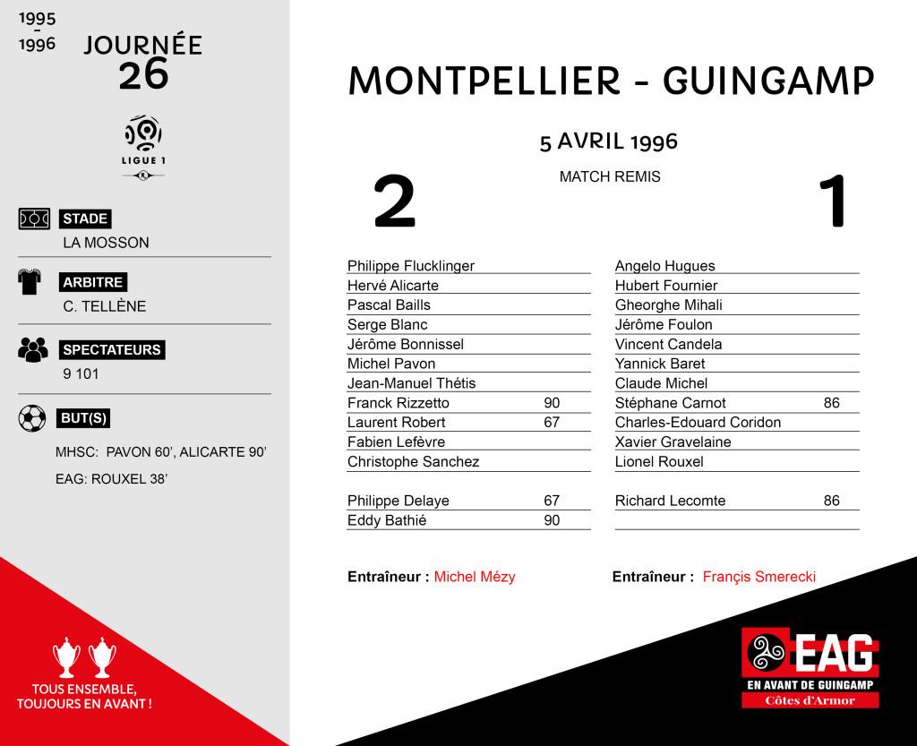 95-96 J26  Montpellier-Guingamp