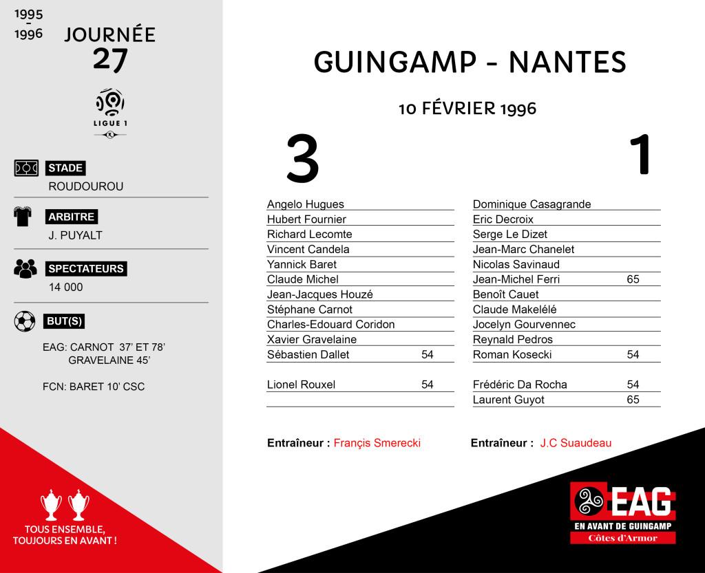 95-96 J27  Guingamp-Nantes