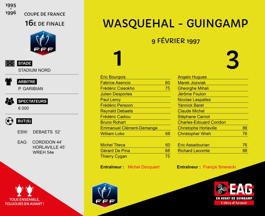 96-97 CDF 16e Wasquehal-Guingamp