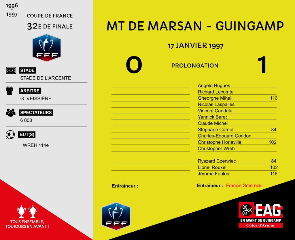 96-97 CDF 32e Mont de Marsan-Guingamp