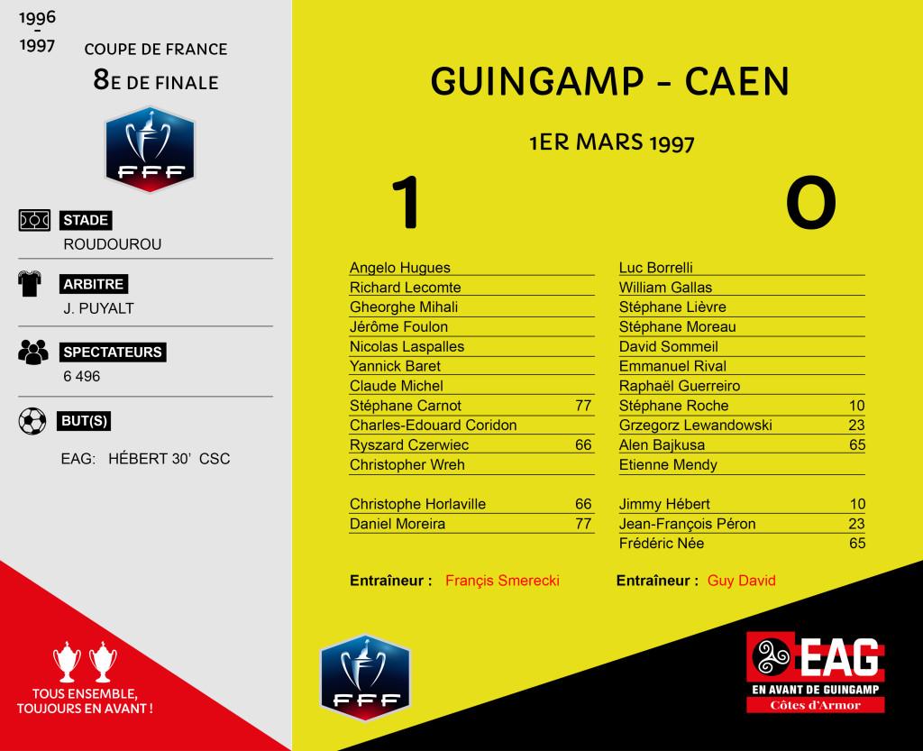 96-97 CDF 8e Guingamp-Caen 1-0