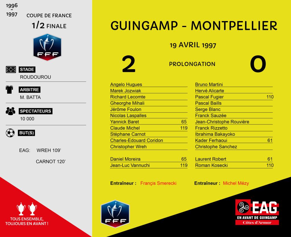 96-97 CDF demie finale Guingamp-Montpellier