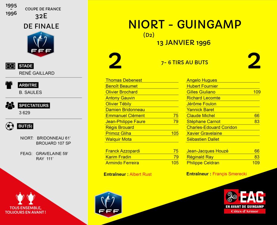 CDF 1995-1996 32e  Niort-Guingamp