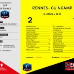 CDF 2000-2001 32e de finale RENNES-Guingamp