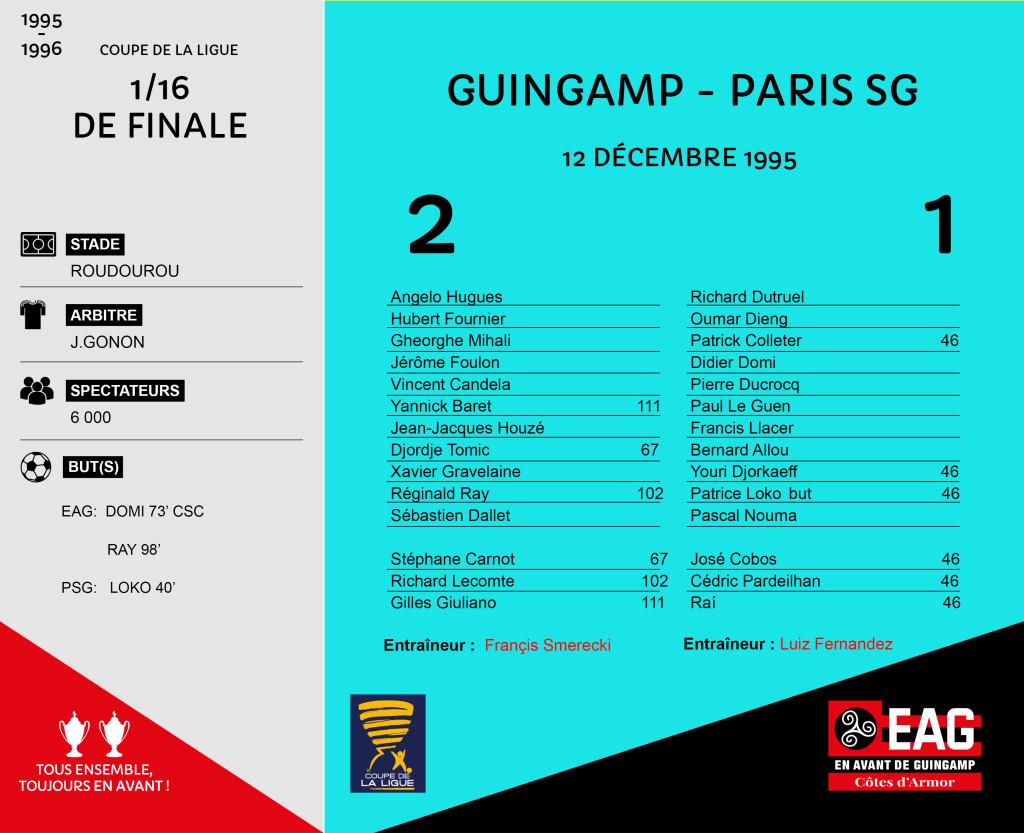 CDL 1995-1996 16e finale  Guingamp-Paris SG