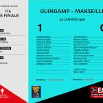 CDL 1995-1996 quart de finale  Guingamp-Marseille