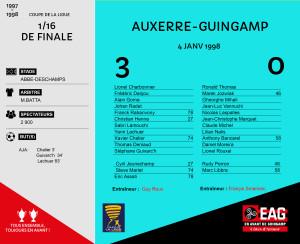 CDL 1997-1998 quart de finale Guingamp-Marseille