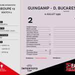 CDL 96-97 Coupe Intertoto M2 Guingamp-Dinamo Bucarest
