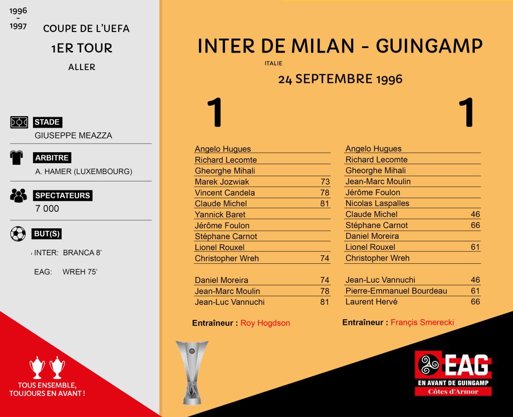CDL 96-97 Coupe UEFA 1er tour Retour Guingamp-Inter Milan
