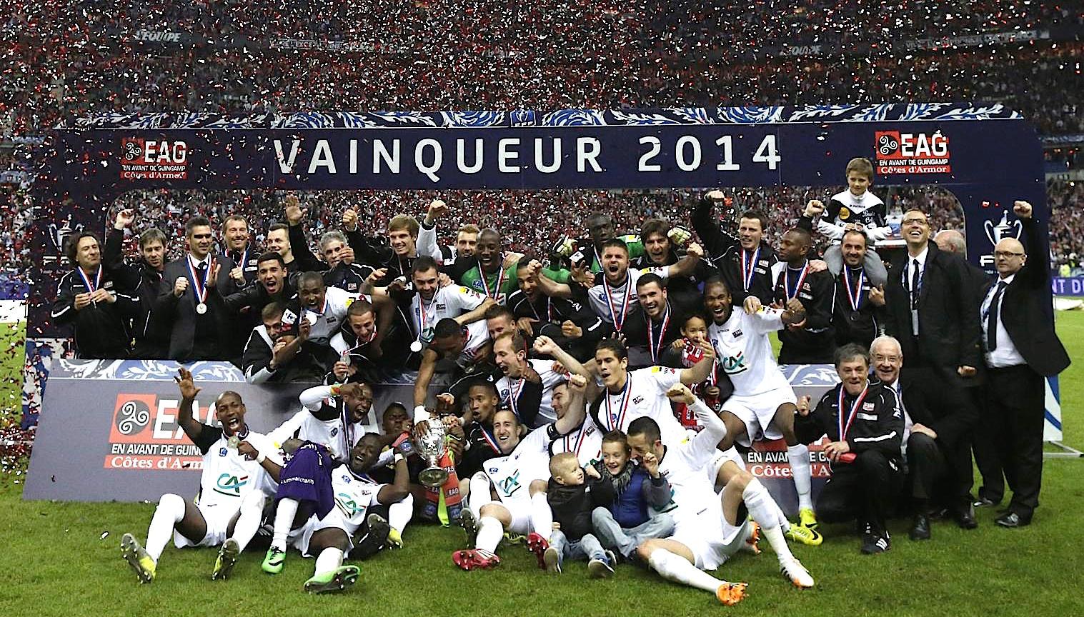 Vainqueur de la coupe de france 2014 en avant de guingamp - Coupe de france 2014 2015 ...