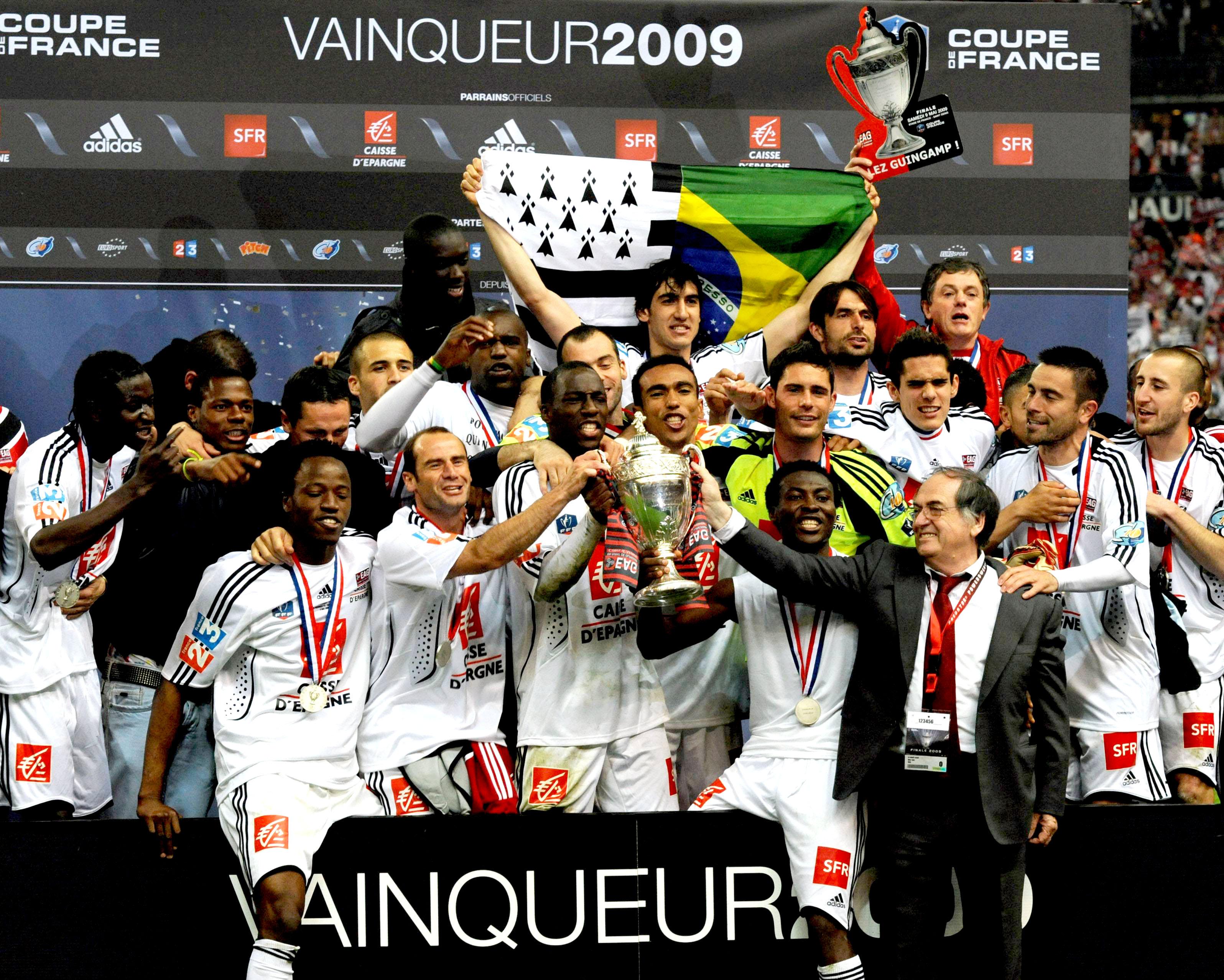 2009 vainqueur de la coupe de france en avant de guingamp - Guingamp coupe de france 2009 ...