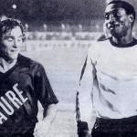 Hervé LE COZ et l'attaquant ivoirien du stade Rennais Laurent POKOU
