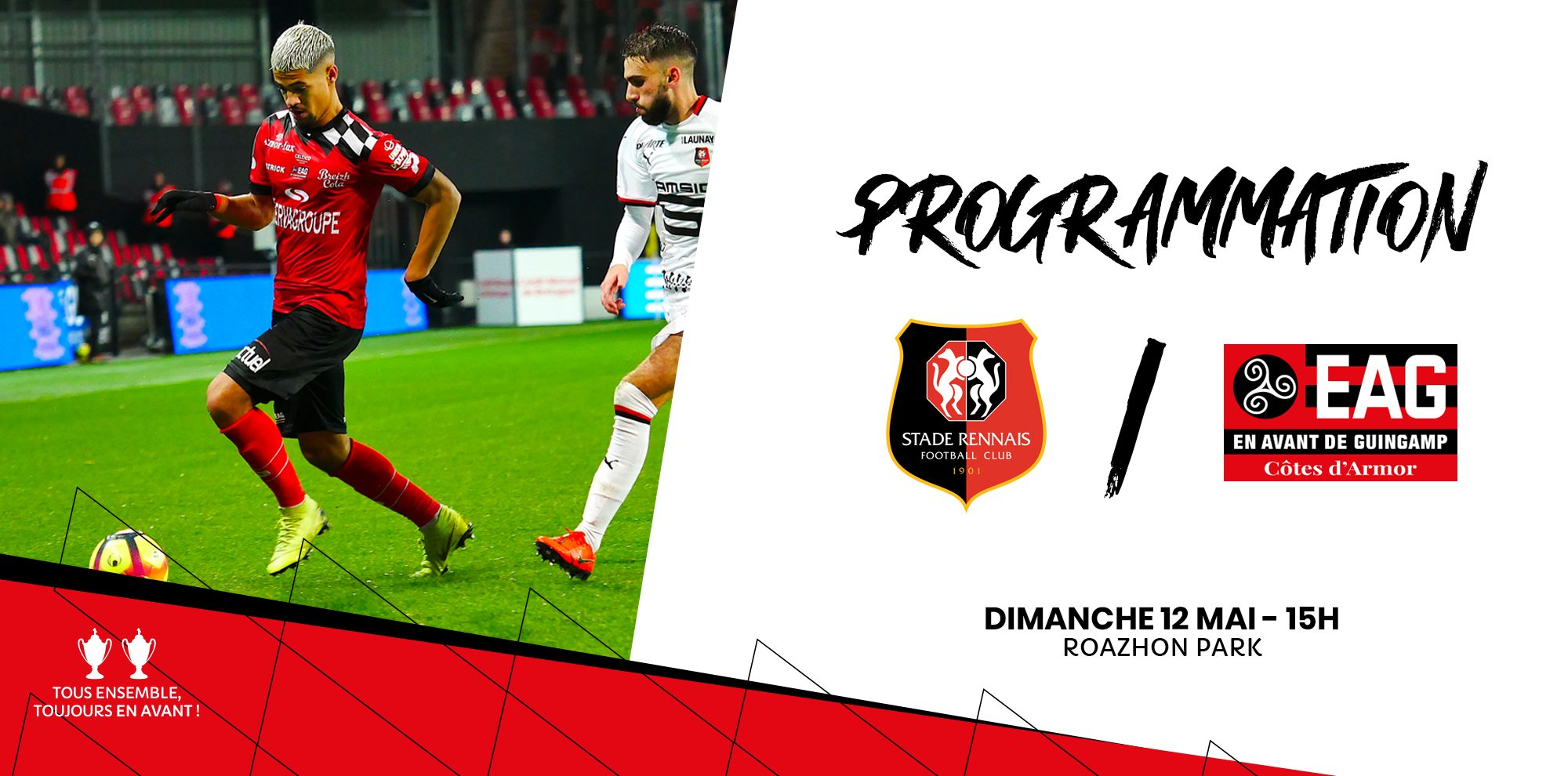 Guingamp et Ngbakoto crucifient Rennes la derni re seconde
