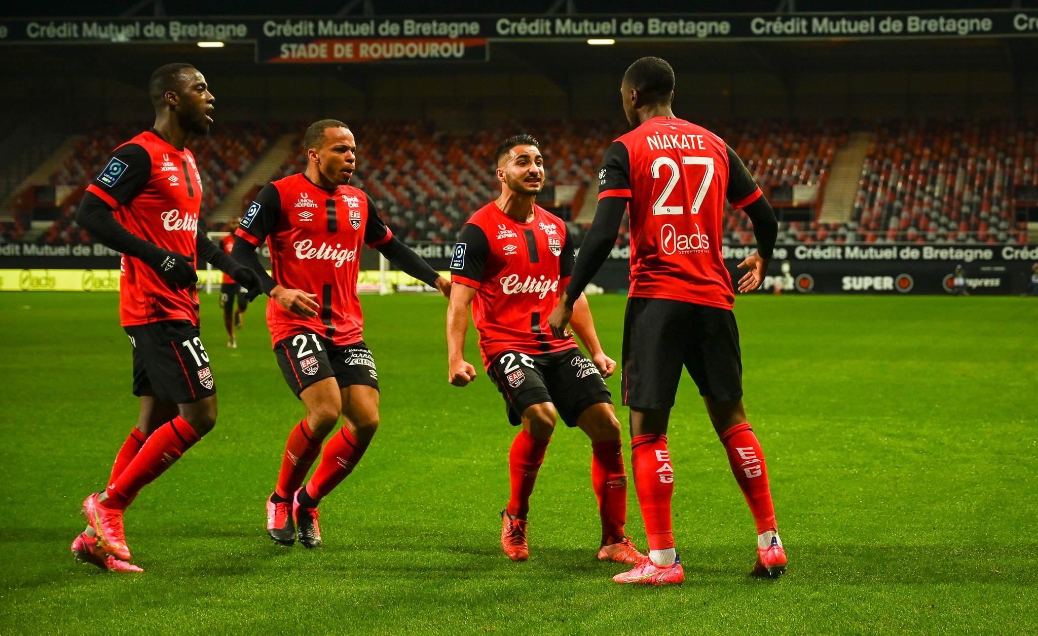 16 EA Guingamp SM Caen 2-2 Ligue 2 BKT Journée 26 2020-21 22 02 2021 EAGSMC