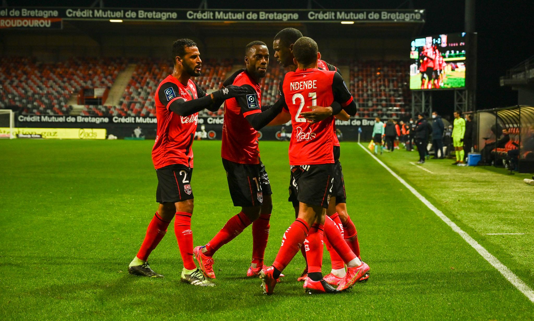 17 EA Guingamp SM Caen 2-2 Ligue 2 BKT Journée 26 2020-21 22 02 2021 EAGSMC