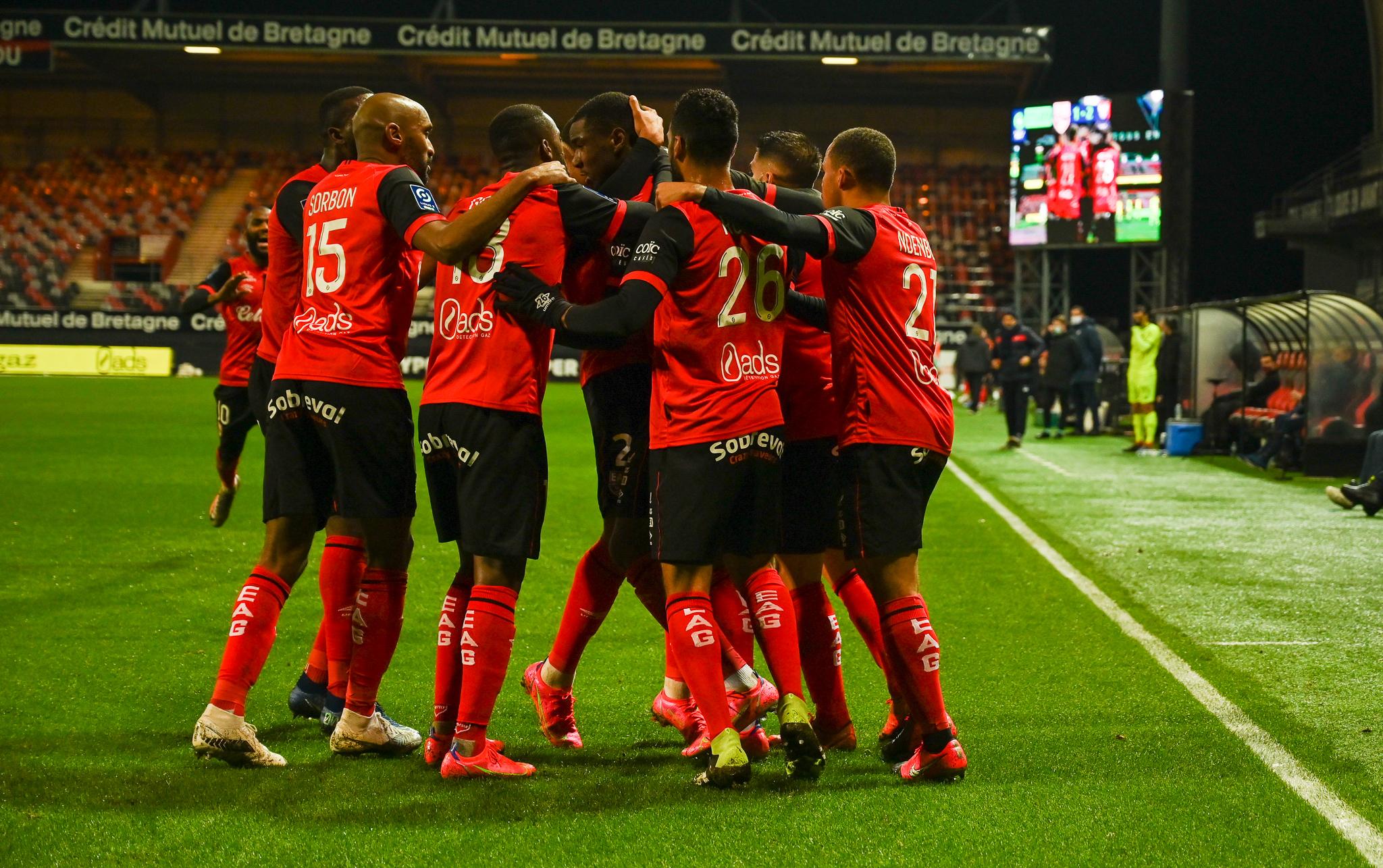 18 EA Guingamp SM Caen 2-2 Ligue 2 BKT Journée 26 2020-21 22 02 2021 EAGSMC