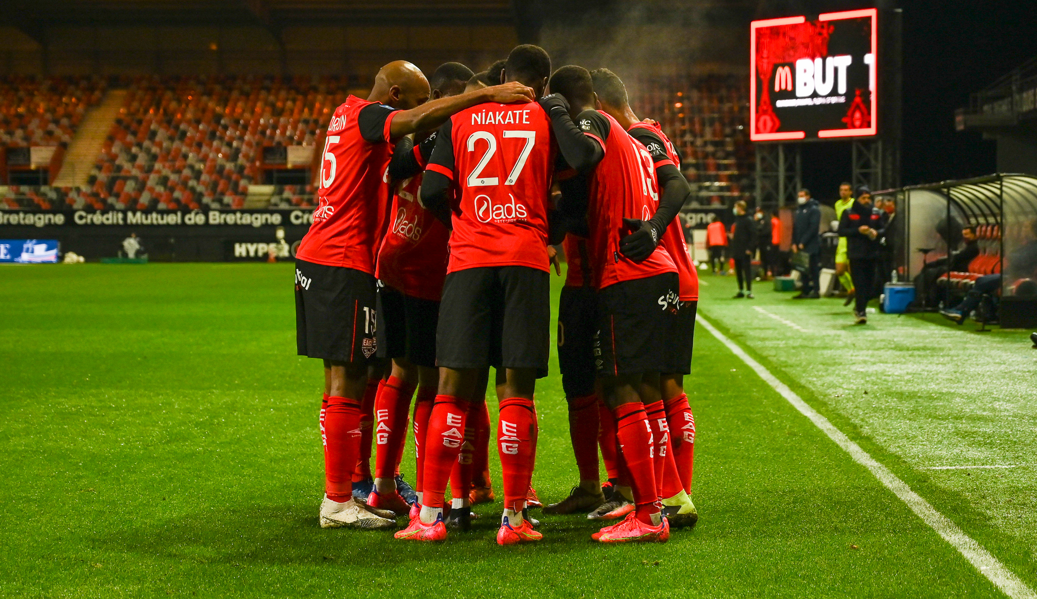 19 EA Guingamp SM Caen 2-2 Ligue 2 BKT Journée 26 2020-21 22 02 2021 EAGSMC