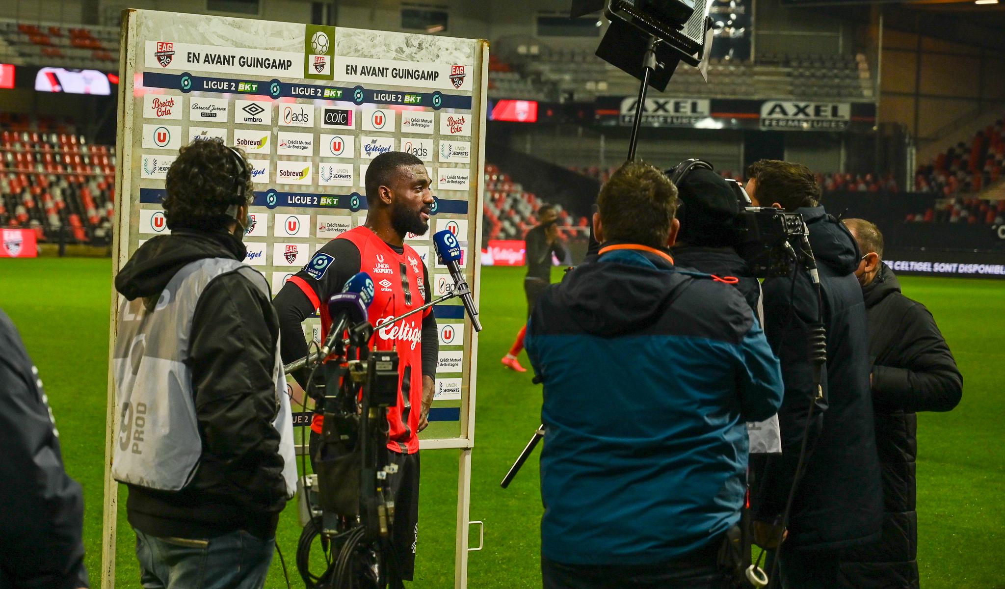 21 EA Guingamp SM Caen 2-2 Ligue 2 BKT Journée 26 2020-21 22 02 2021 EAGSMC