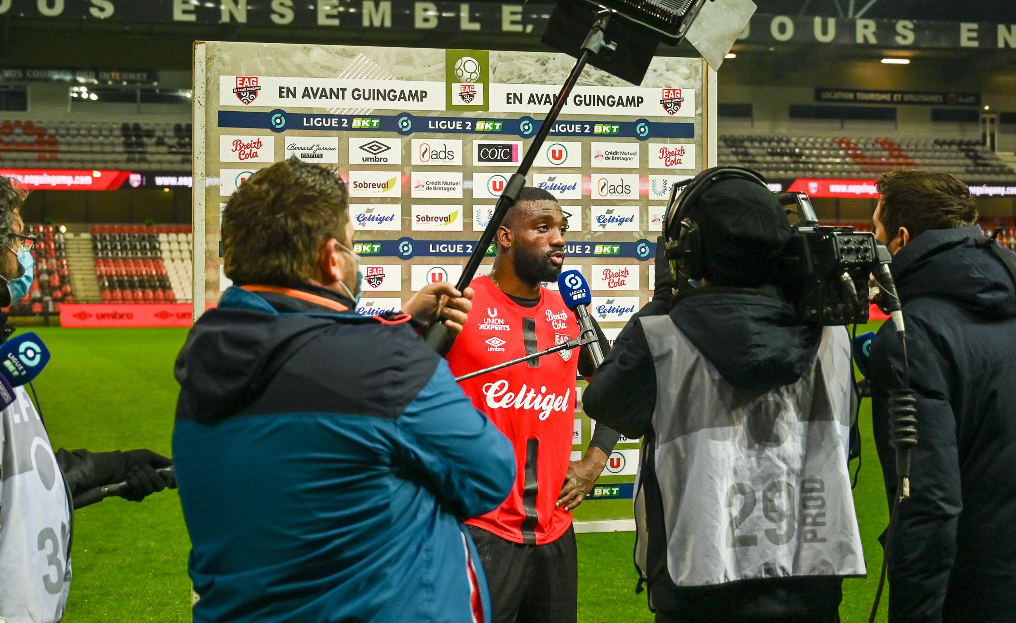 22 EA Guingamp SM Caen 2-2 Ligue 2 BKT Journée 26 2020-21 22 02 2021 EAGSMC