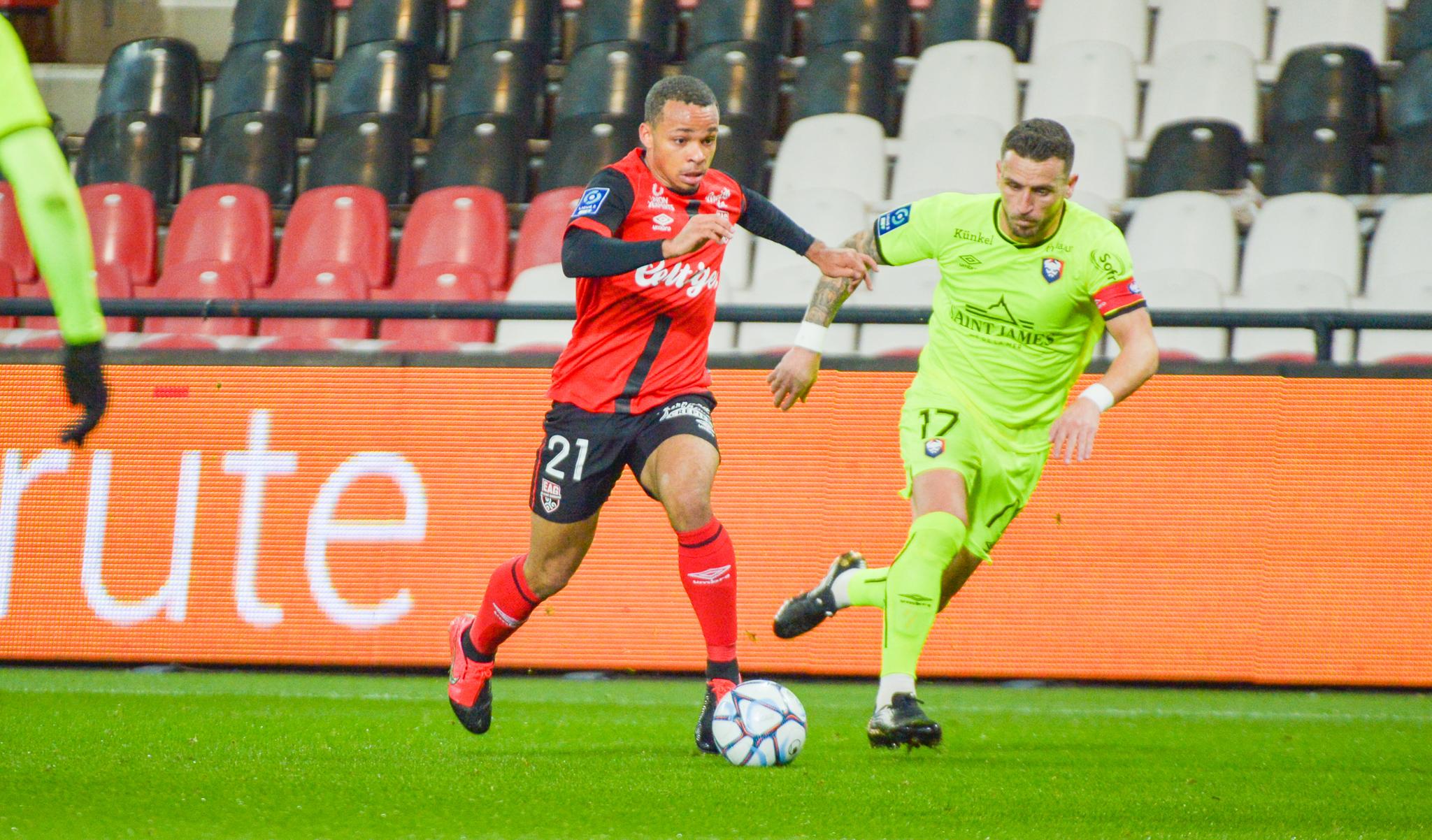 26 EA Guingamp SM Caen 2-2 Ligue 2 BKT Journée 26 2020-21 22 02 2021 EAGSMC