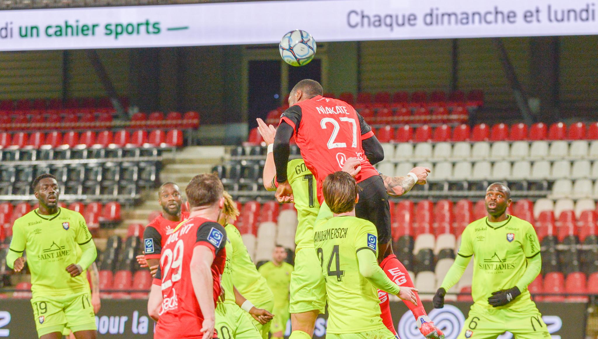 28 EA Guingamp SM Caen 2-2 Ligue 2 BKT Journée 26 2020-21 22 02 2021 EAGSMC