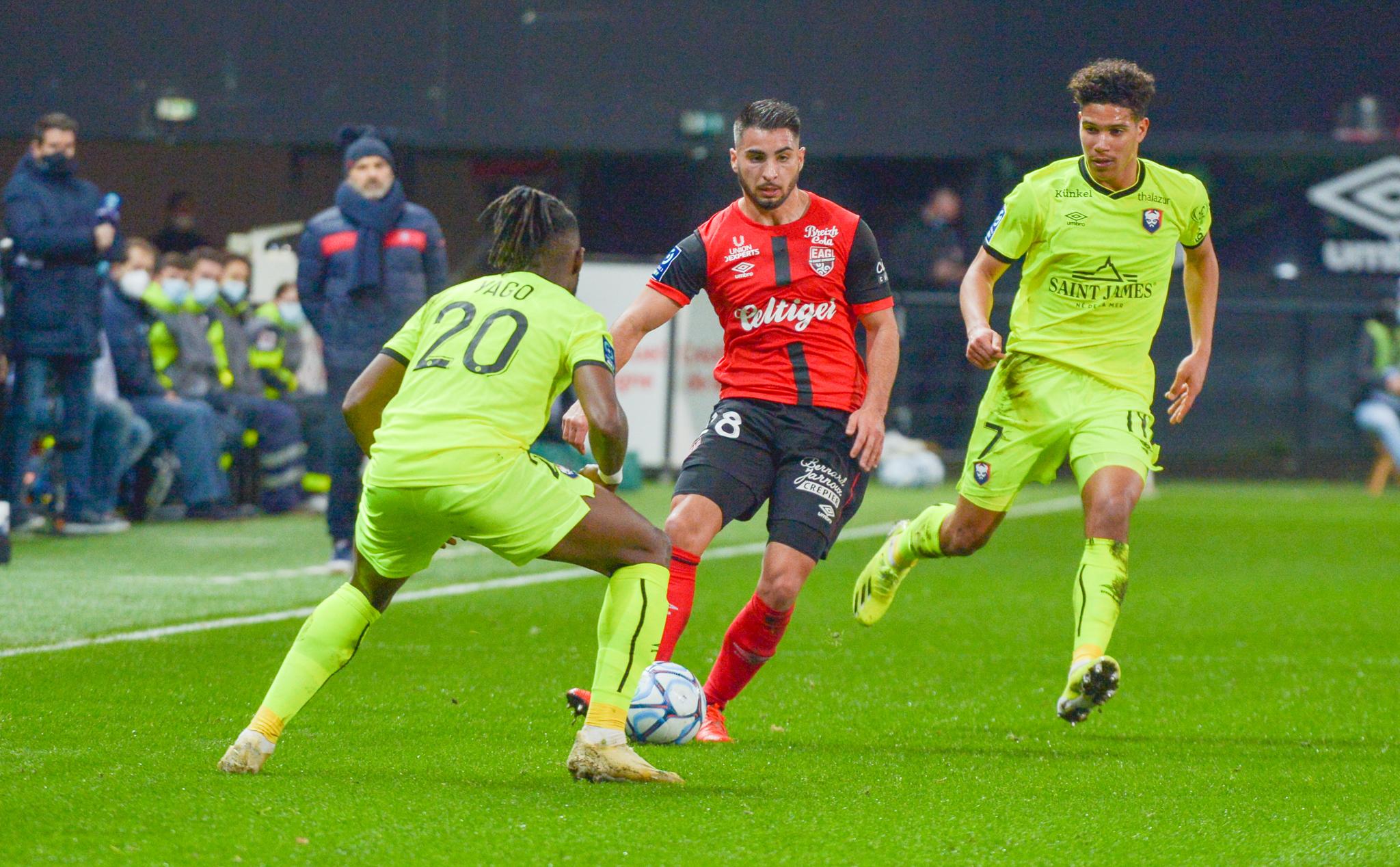 34 EA Guingamp SM Caen 2-2 Ligue 2 BKT Journée 26 2020-21 22 02 2021 EAGSMC