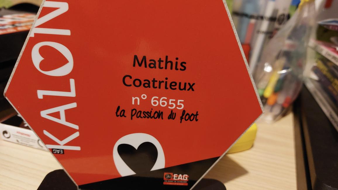 Mathis Coatrieux visite le stade de Roudourou avec Christophe Kerbrat Guingamp En Avant-16 9-2