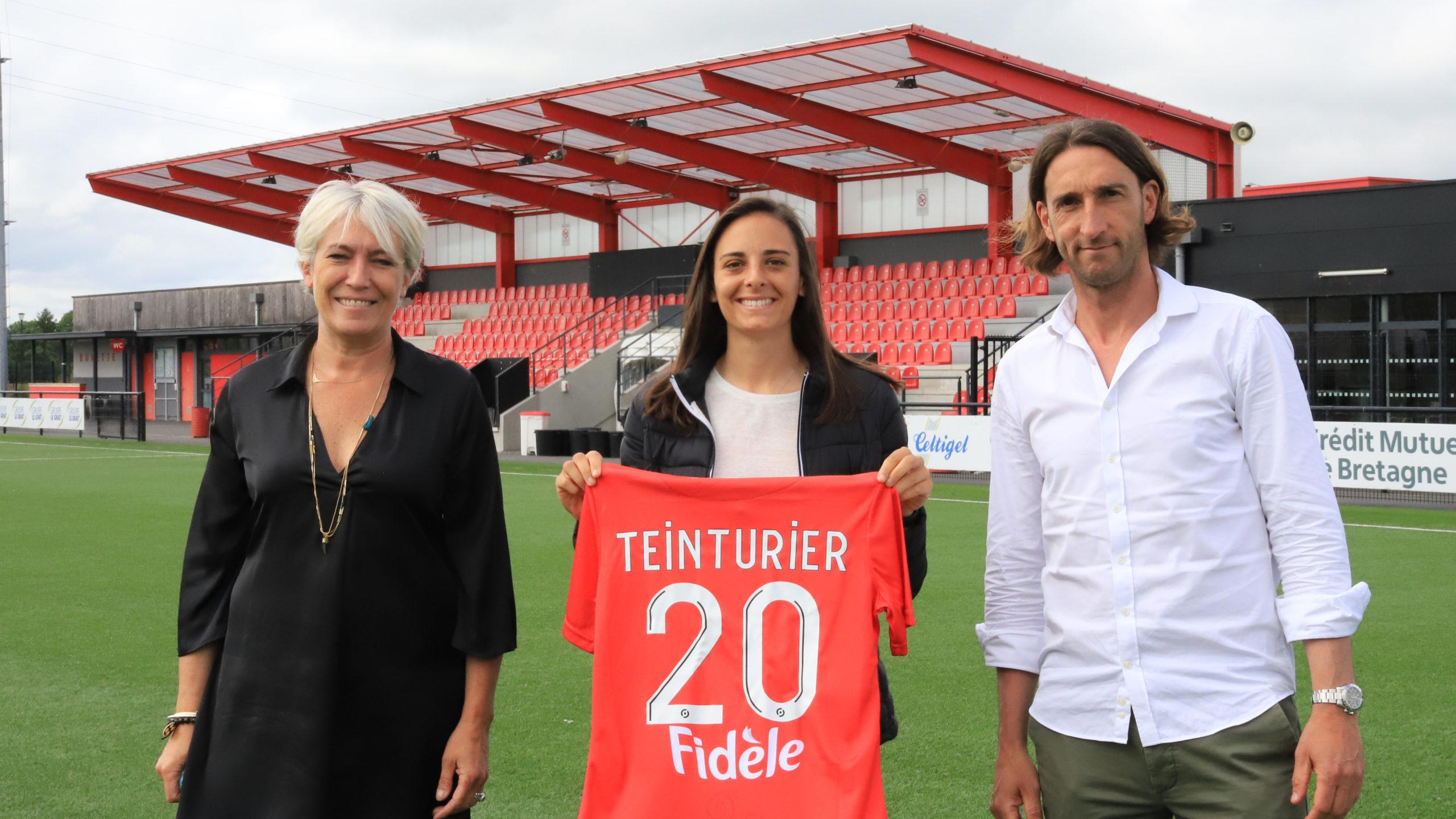 Laurie Teinturier est Guingampaise section féminine Fred Biancalani Marlène Bouedec Cetligirls-1